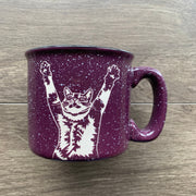 Stretch Cat Mug with Handle - Engraving is Dishwasher-Safe, Microwave-Safe
