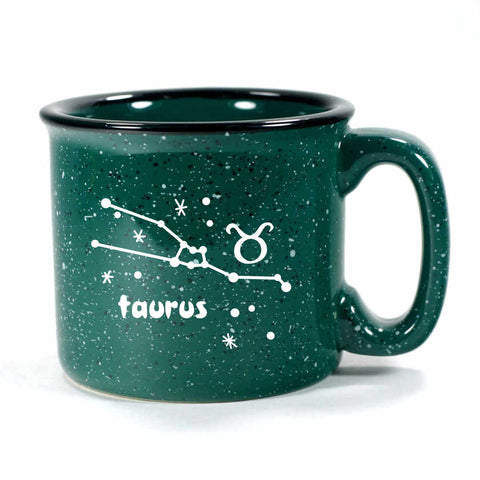 taurus constellation camp mug, forest green, by Bread and Badger