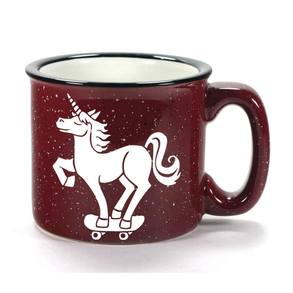 Burgundy Unicorn camp mug by Bread and Badger