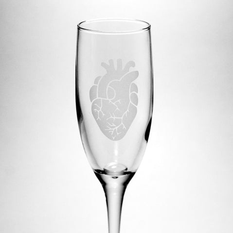 Anatomical Heart Champagne Flute