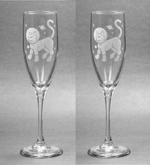 Astronaut Cat Champagne Flute (Retired)