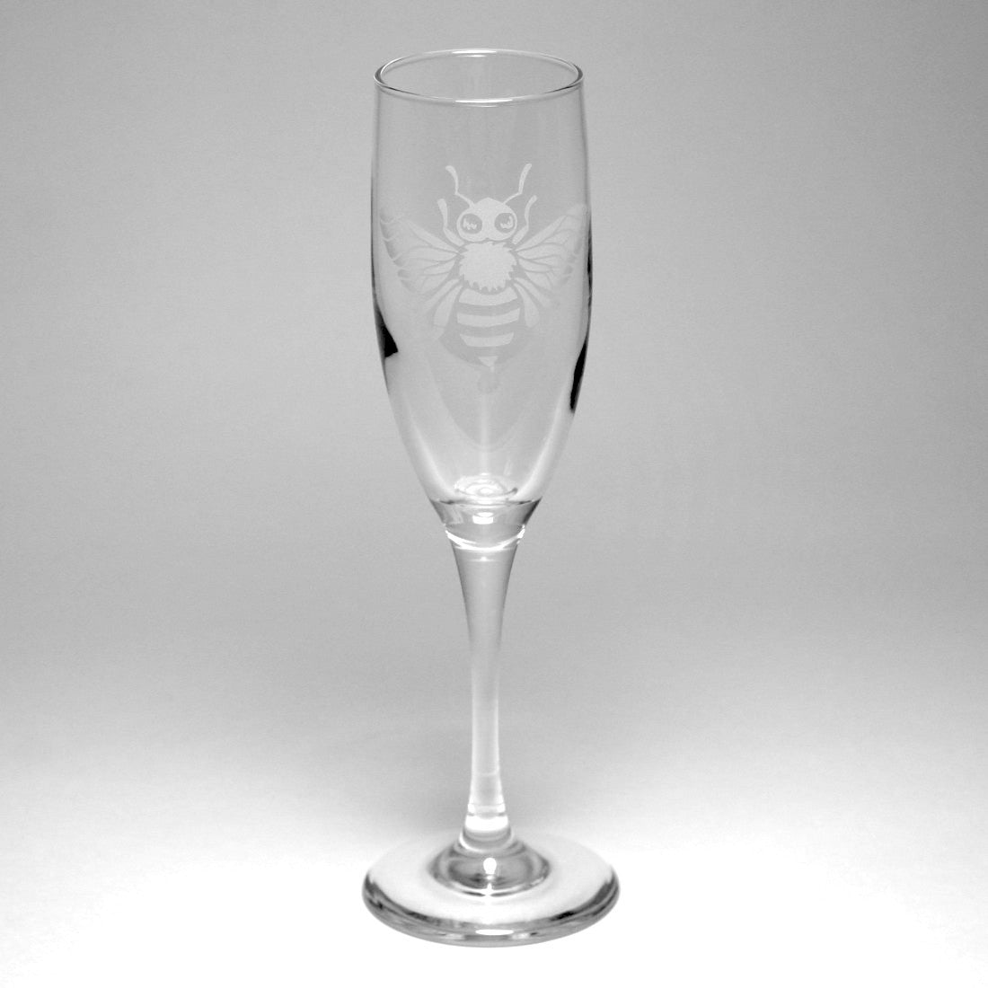 honey bee champagne flutes