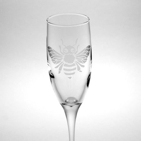 honey bee champagne flute