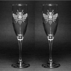 Bee Champagne Flute (Retired)