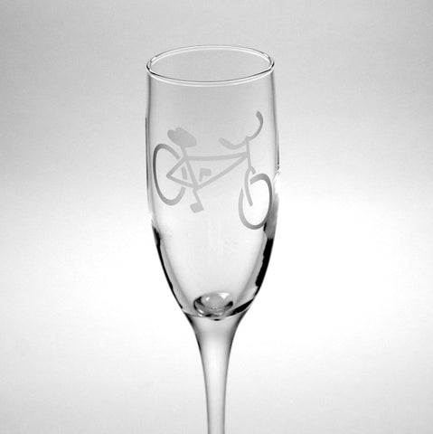 Bicycle Champagne Flute