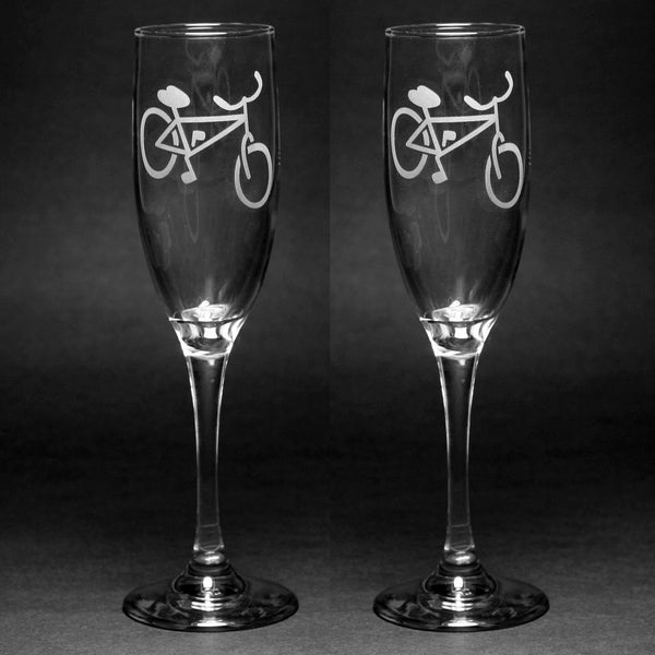 Bicycle Champagne Flutes Set of 2