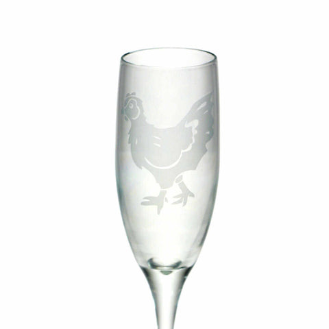 Chicken Glass Champagne Flute (Retired)