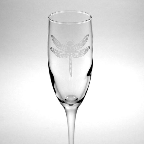 Dragonfly Champagne Flute