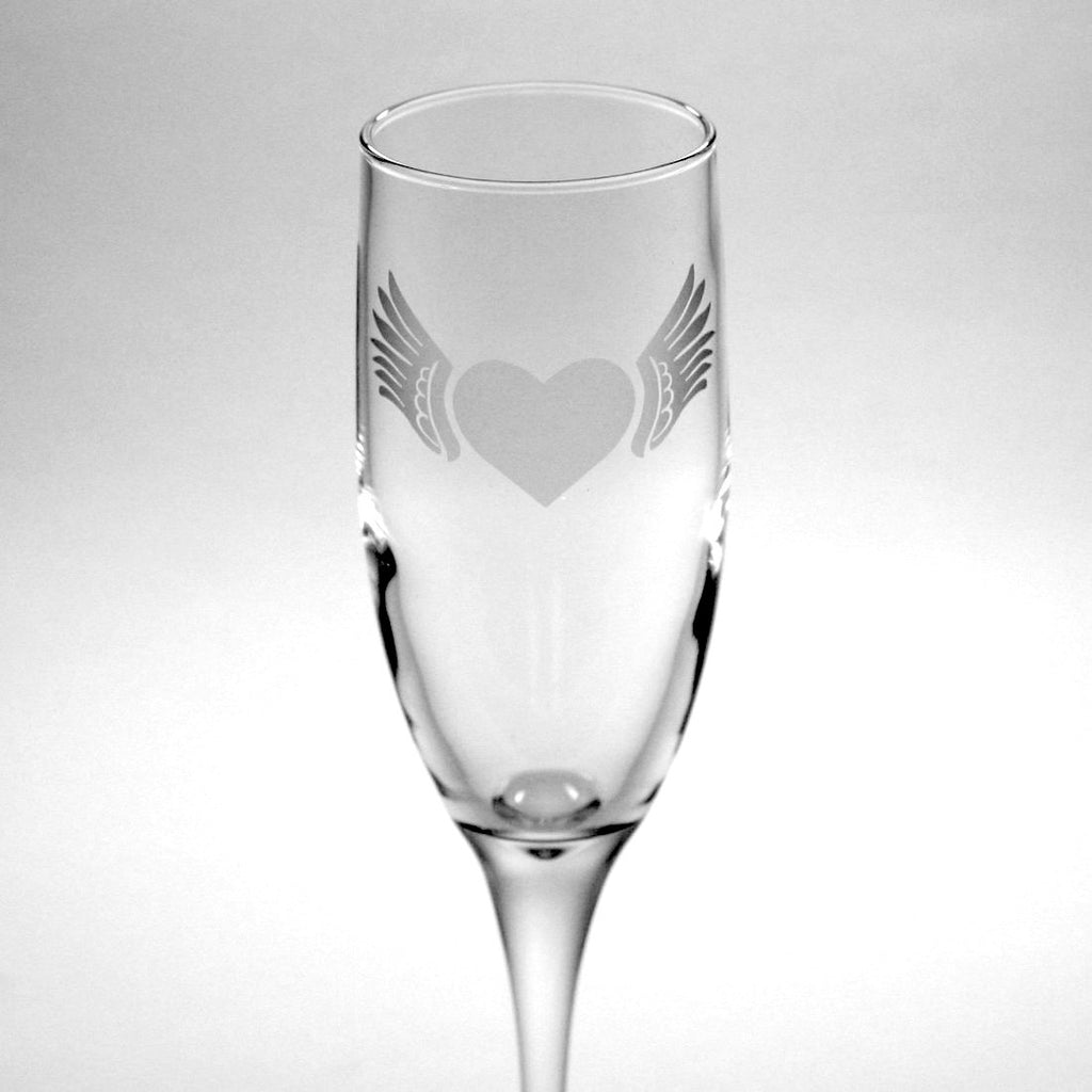 Winged Heart Champagne Flute (Retired) – Bread and Badger