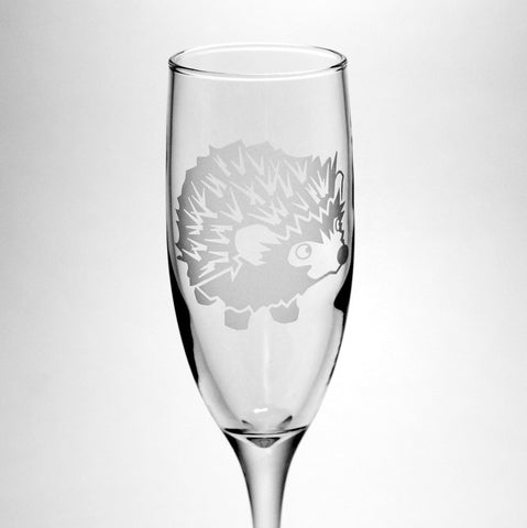Hedgehog Glass Champagne Flute (Retired)