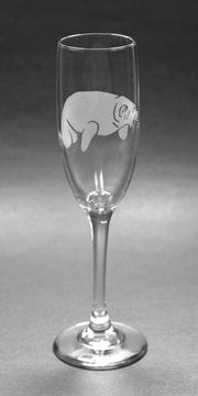 Manatee Glass Champagne Flute (Retired)