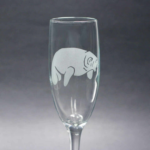 Manatee Champagne Flute