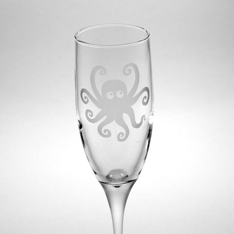 Octopus Champagne Flute