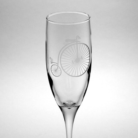 Penny Farthing Bike Champagne Flute