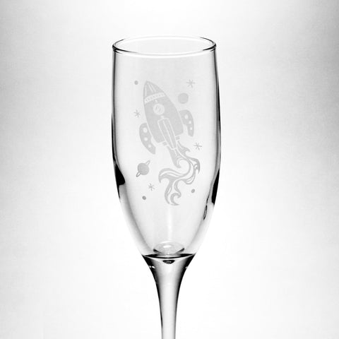 Rocket Ship Champagne Flute (Retired)