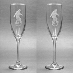 Sasquatch Glass Champagne Flute (Retired)