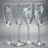 Orion Constellation Champagne Flute