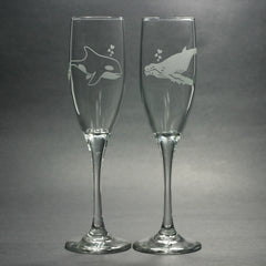 Whale Glass Champagne Flute (Retired)
