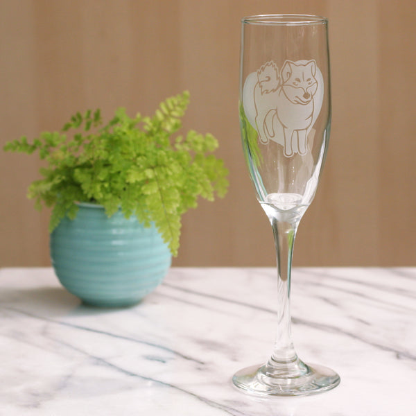 Akita champagne flute by Bread and Badger