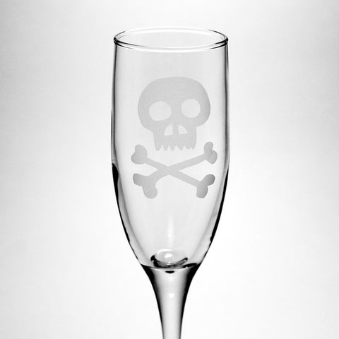 jolly roger champagne flute