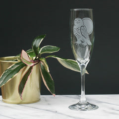Snowy Owl Champagne Flute (Retired)
