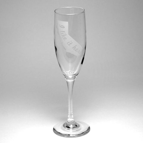 state map champagne flute