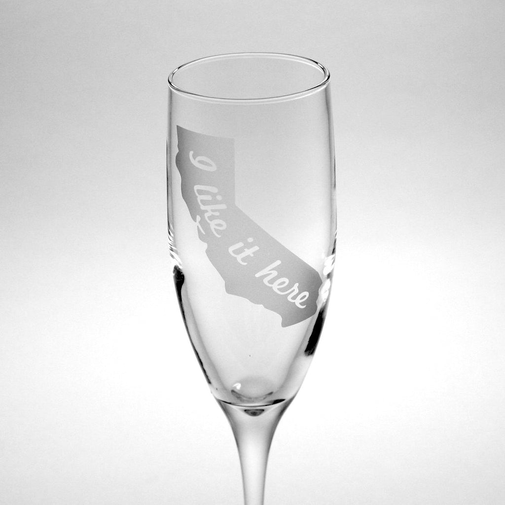state champagne flute