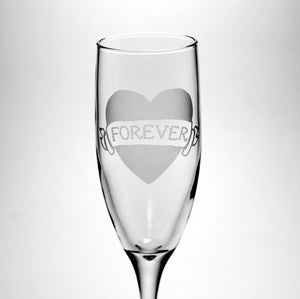 Forever Tattoo Heart Champagne Flute