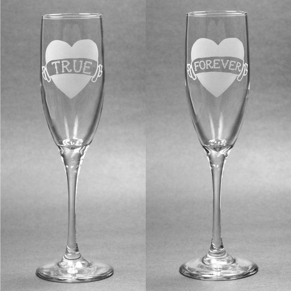 Tattoo Heart Champagne Toasting Flutes Set of 2
