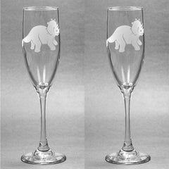 Triceratops Glass Champagne Flute (Retired)