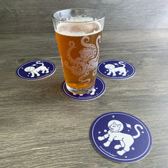 Cat coasters by Bread and Badger