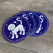 Astronaut Cat coaster set by Bread and Badger