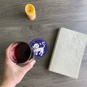 space cat coasters by Bread and Badger