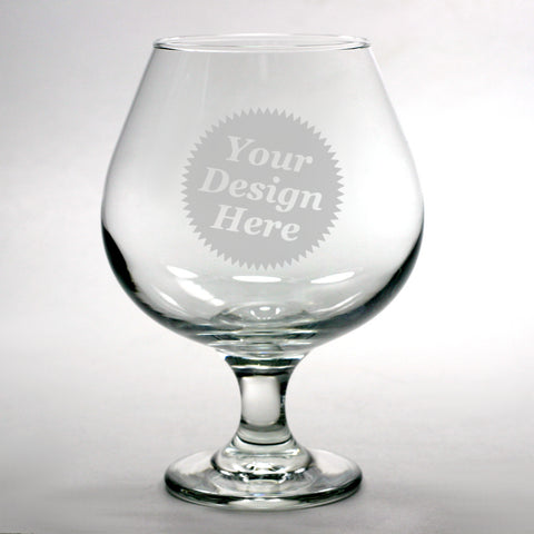Custom engraved brandy snifter