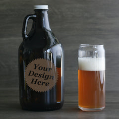 Custom engraved growlers