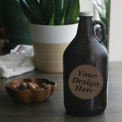 custom etched beer growlers