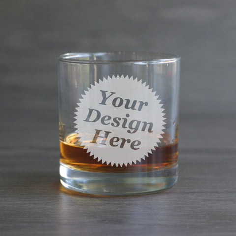 custom etched lowball glasses