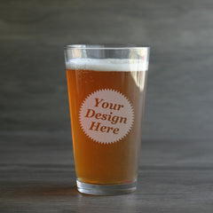 custom etched pint glasses
