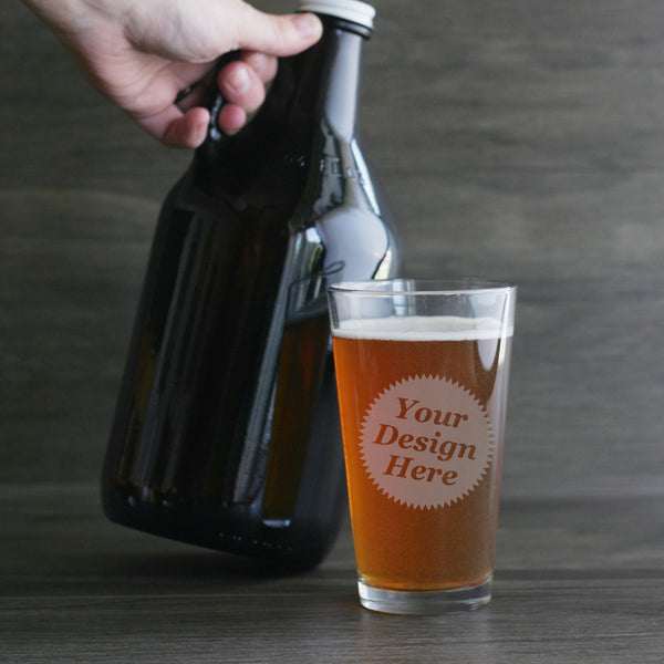 custom engraved pint glasses for homebrewers