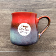 Rustic Mug in Fiery Sunset Red