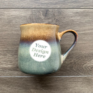 Rustic Mug in Painted Sunset brown