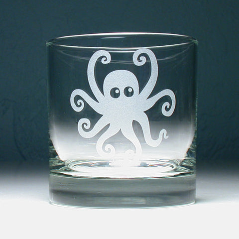 Octopus Lowball Glass