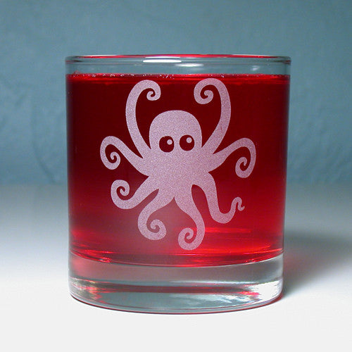 octopus lowball cocktail glass