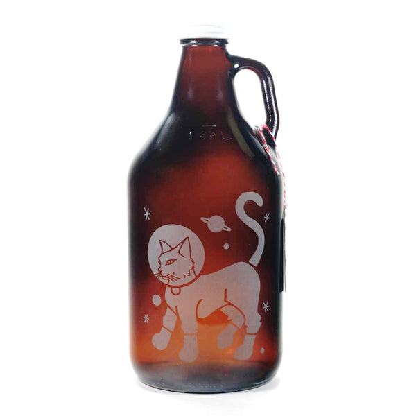 Astronaut Cat home brew beer growler