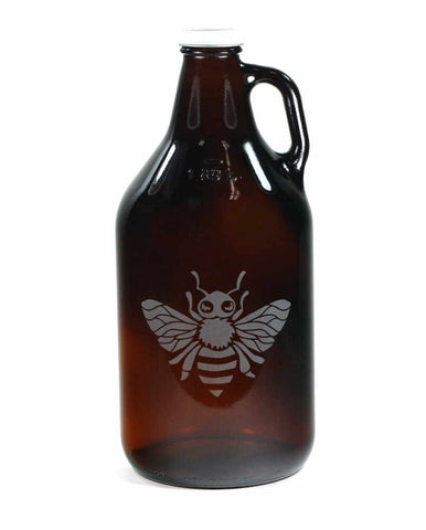honey bee home brew beer growler