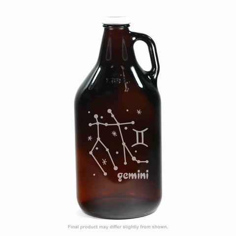 Zodiac Constellation Beer Growler