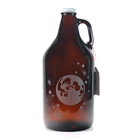 Full Moon and Stars home brew beer growler