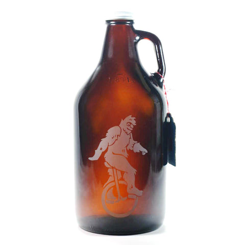 Sasquatch Bigfoot home brew beer growler