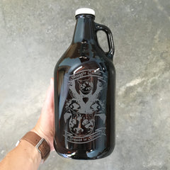 Custom logo beer growler by Bread and Badger