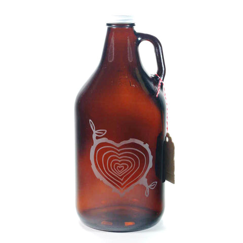 Tree Stump Heart home brew beer growler